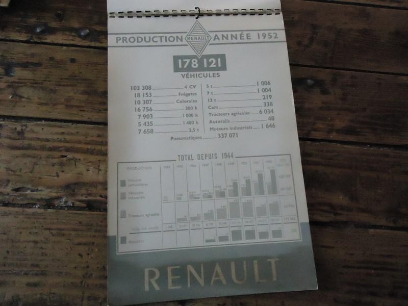 calendrier renault 1954 renault fregate 4cv original